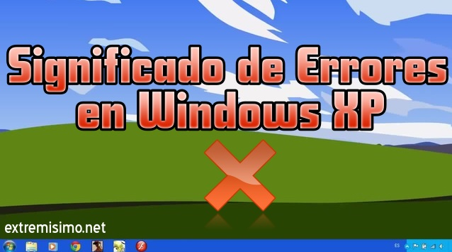 errores en windows xp