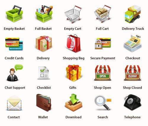 Iconos de comercio electrónico