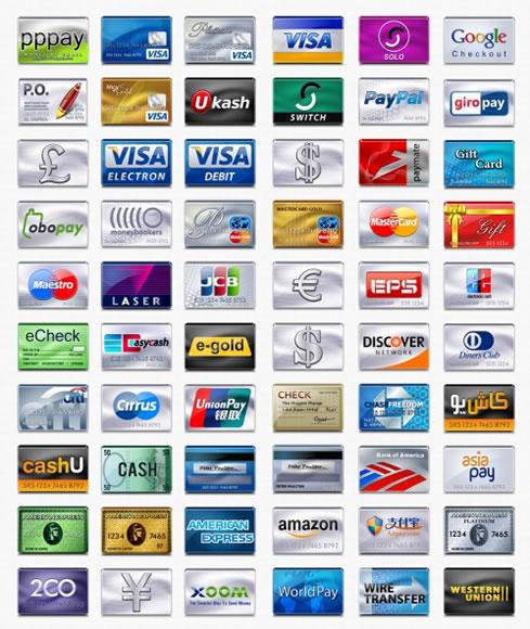 Iconos de tarjetas