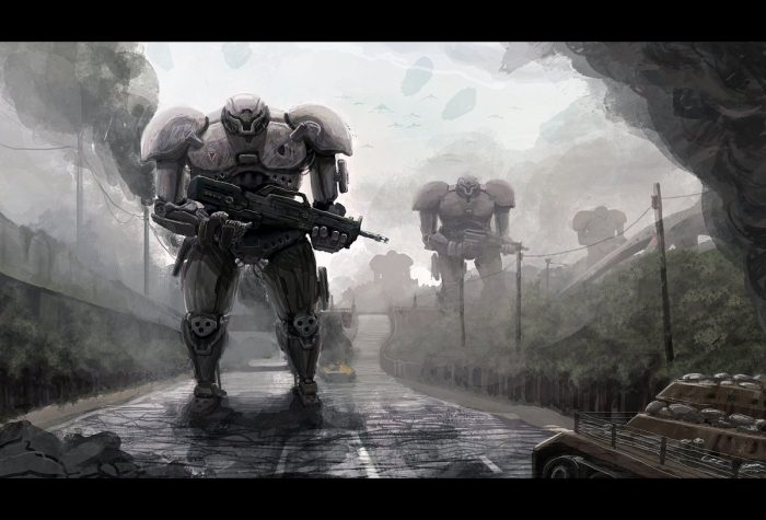 Wallpaper futuristas de robots
