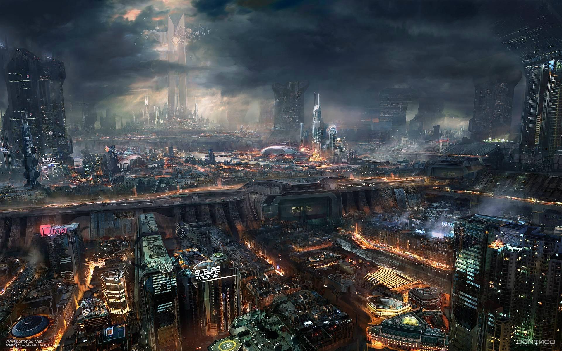 Wallpaper futuristas de ciudades