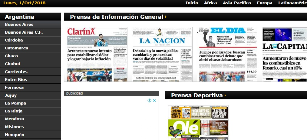periodicos argentina