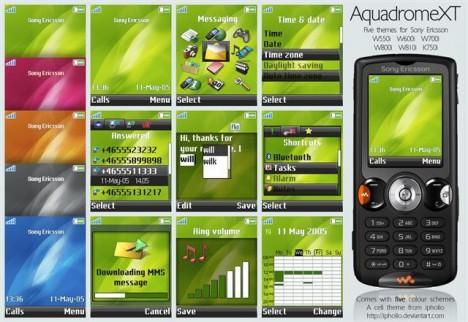 Temas para celulares Sony Ericsson