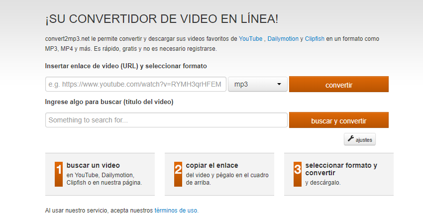 Otra alternativa para descargar el audio de YouTube