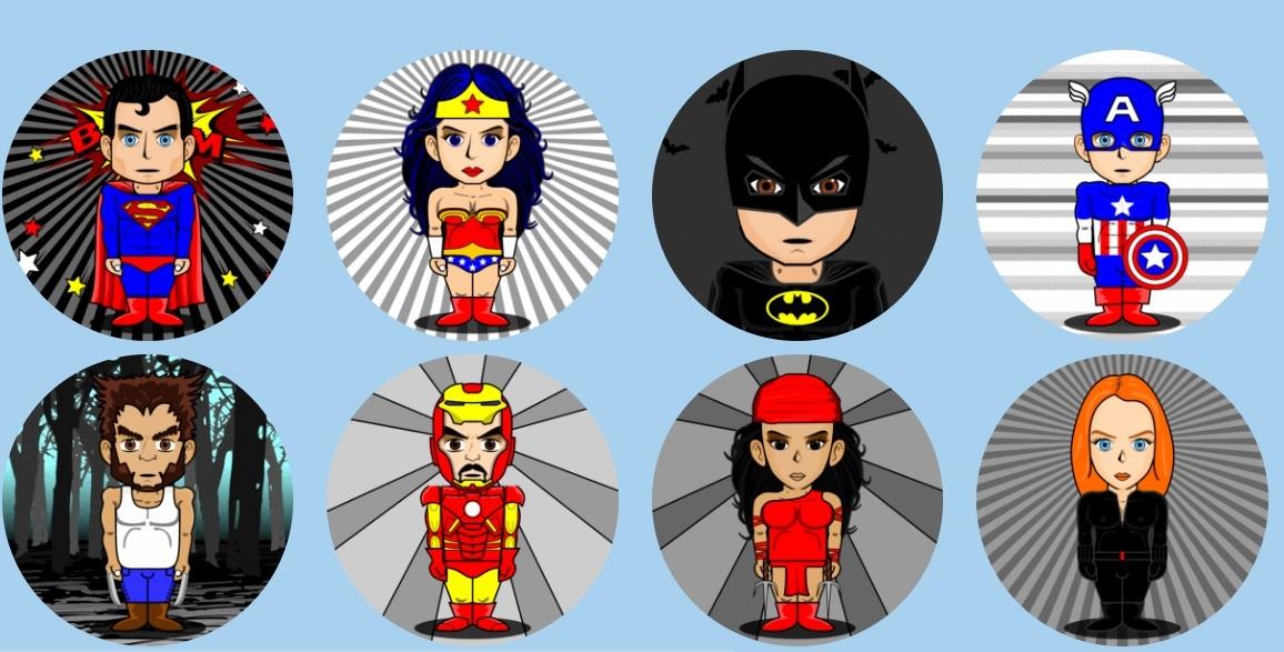 avatares super heroes