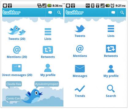 aplicación oficial de Twitter para Android