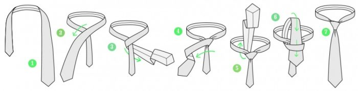 Nudo de corbata triple