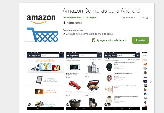 app Amazon para Android