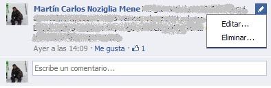 Editar comentarios Facebook