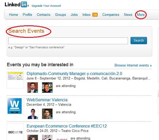 Eventos LinkedIn