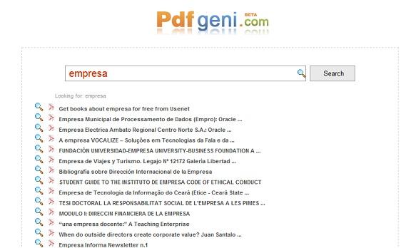 PDFgeni buscador de libros en PDF