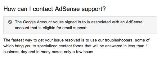 contactar con Google adsense