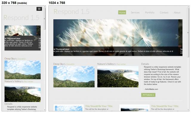 Plantillas CSS y HTML con diseño responsive