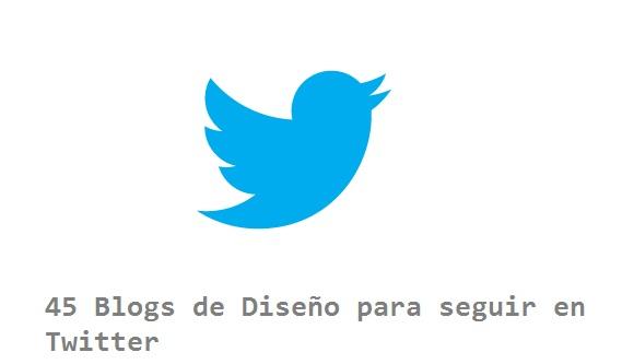Blogs de diseño para seguir en Twitter