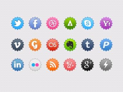 iconos sociales coloridos