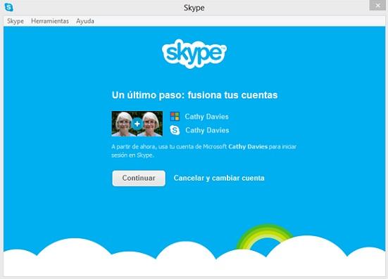integración entre skype y messenger