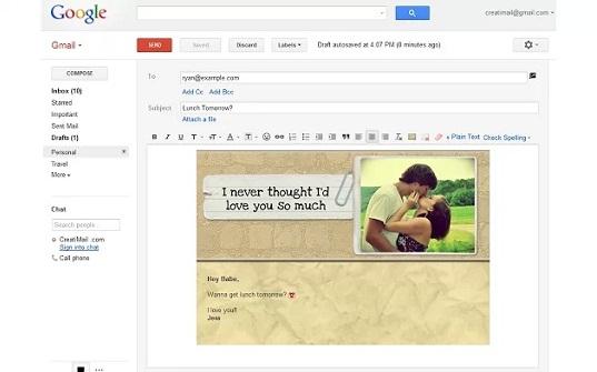 CreatiMail para Chrome