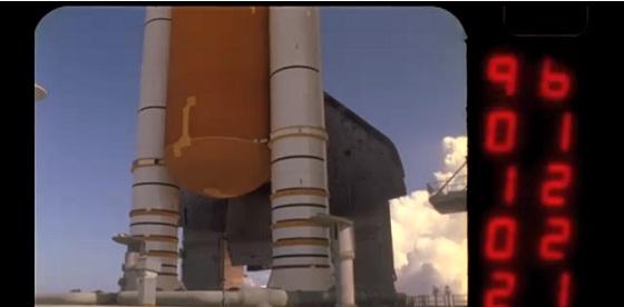 lanzamiento de un transbordador espacial