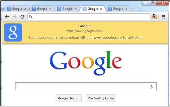 liberar memoria en Google Chrome