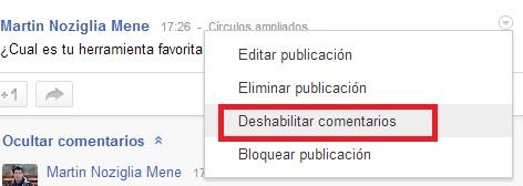Encuestas en Google Plus 1