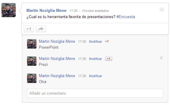 Encuestas en Google Plus