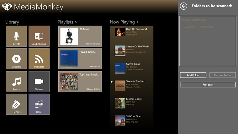 MediaMonkey para Windows 8