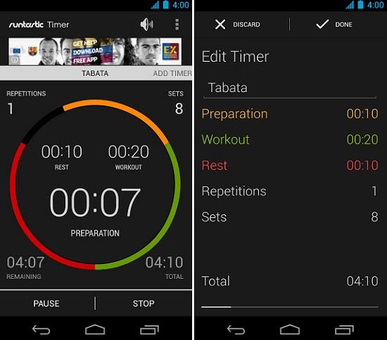 runtastic timer para android
