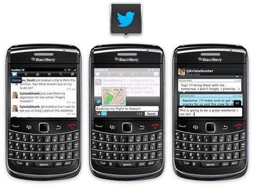 Aplicaciones de Twitter para BlackBerry