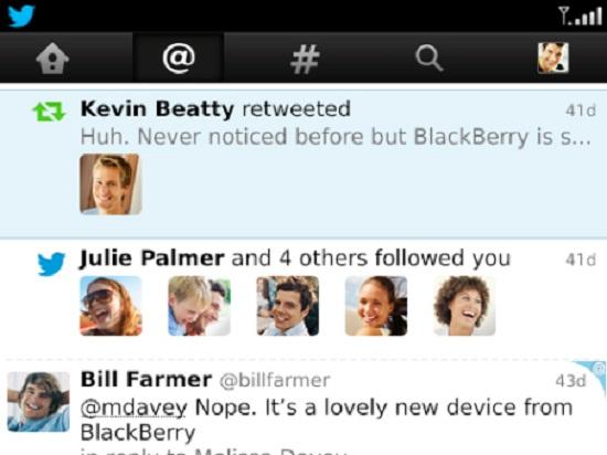 Aplicaciones de Twitter para BlackBerry 1