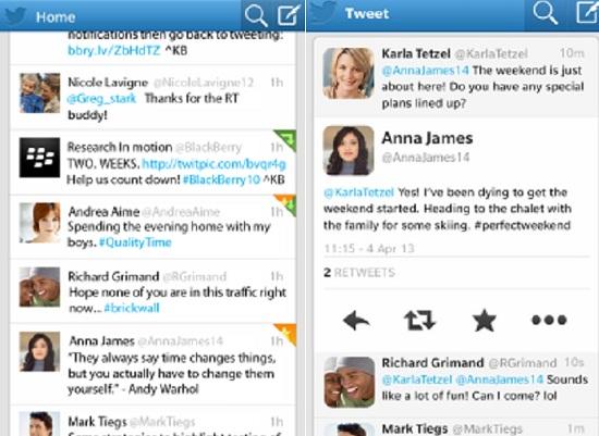 Aplicaciones de Twitter para BlackBerry 2