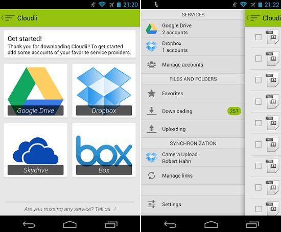 Cloudii para Android