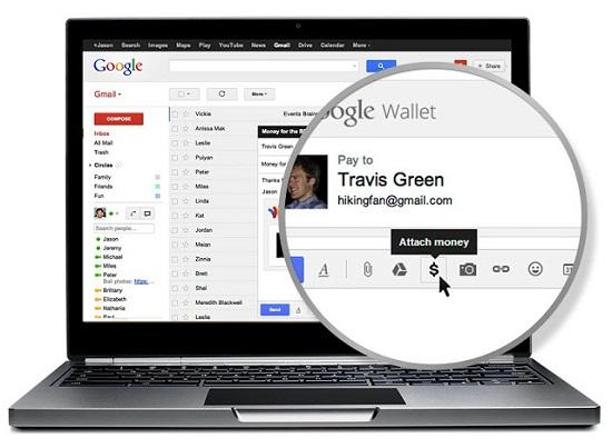 enviar dinero desde gmail