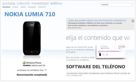 Pasar música al lumia 710