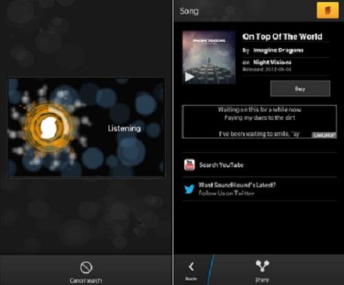 SoundHound para BlackBerry
