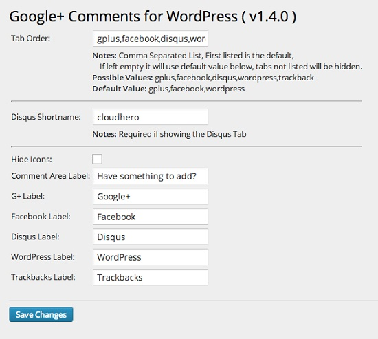 comentarios de google+ en wordpress