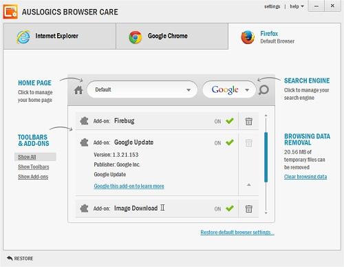 Mantenimiento de navegadores