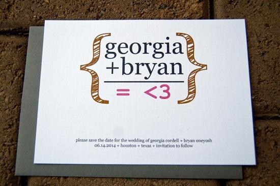 Ecuación matemática invitación de boda