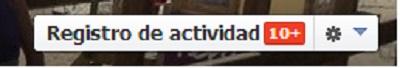 Registro de actividad Facebook