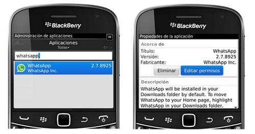 No puedo conectar a whatsapp en BlackBerry