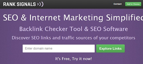 RankSignals para analizar backlinks