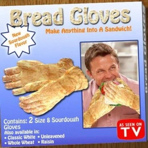 guantes de pan