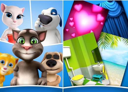 talking tom para messenger