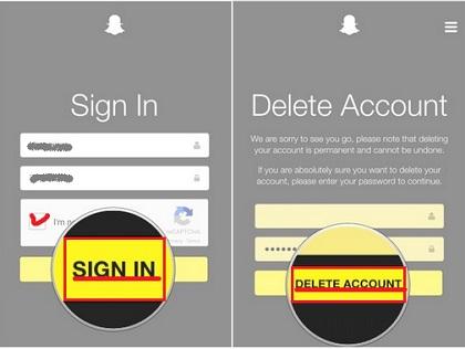 Cómo eliminar una cuenta de snapchat en iPhone y Android