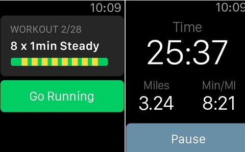 aplicaciones para salir a correr con el apple watch