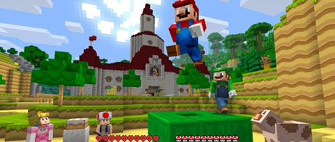 Minecraft y Super Mario para Wii U