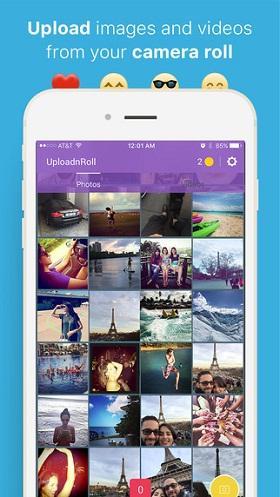 enviar fotos de la galería por snapchat