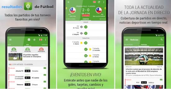 app resultados de fútbol para android