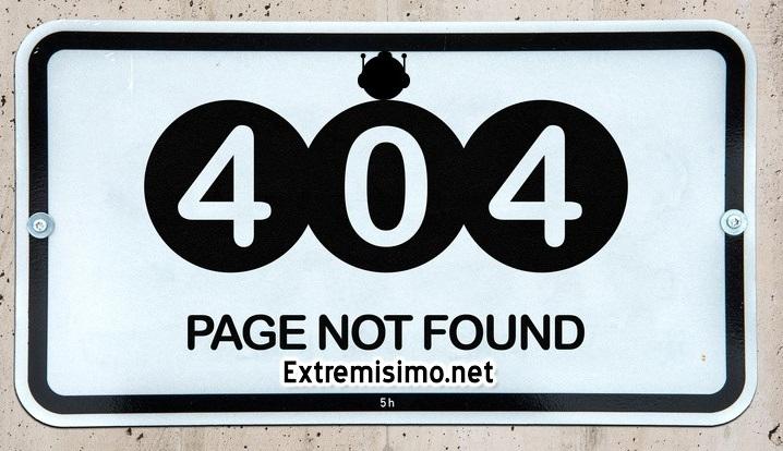página error 404