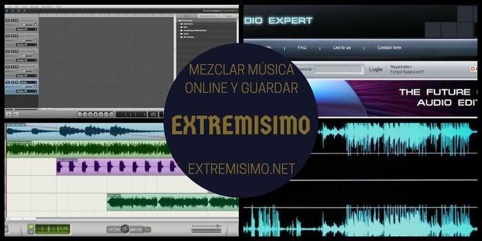 Mezclar música online y guardar