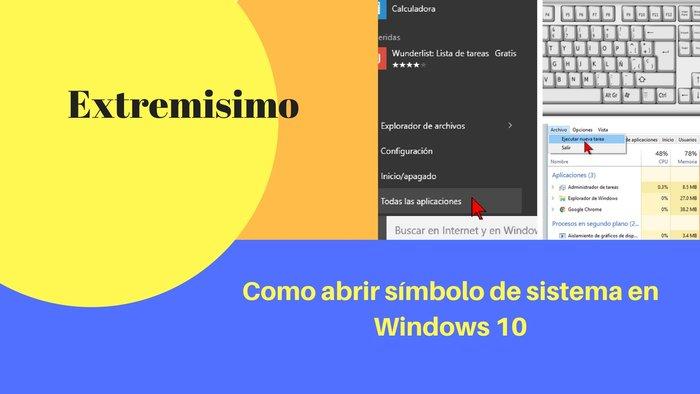 abrir símbolo de sistema en Windows 10